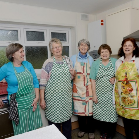 Kitchen Volunteers Hathersage Luncheon Club